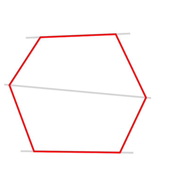 Learn easy to draw 3D Hexagon 02