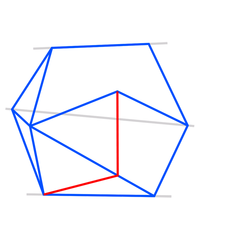 Learn easy to draw 3D Hexagon 06