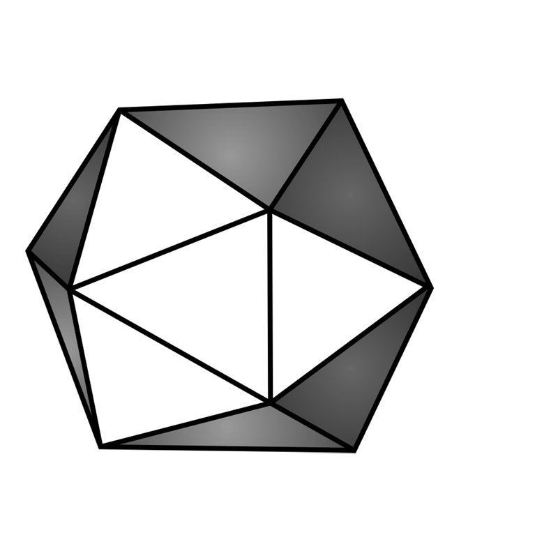 Learn easy to draw 3D Hexagon 10
