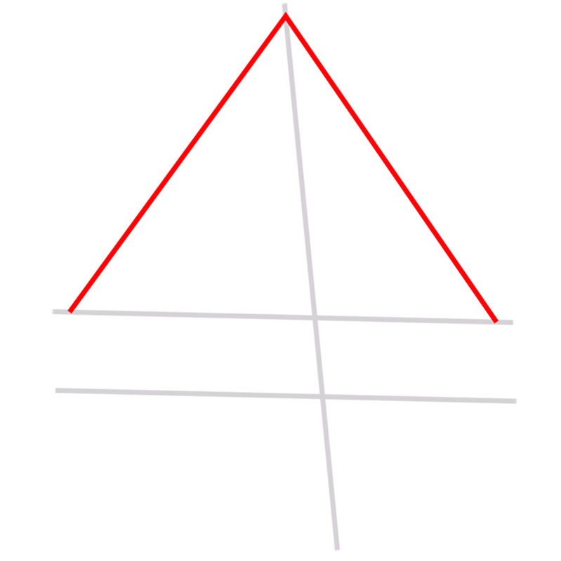 Learn easy to draw 3D Pyramid step 02
