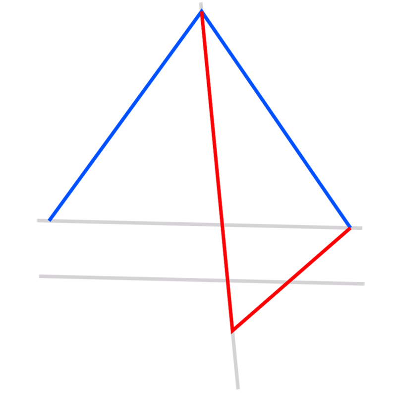 Learn easy to draw 3D Pyramid step 03