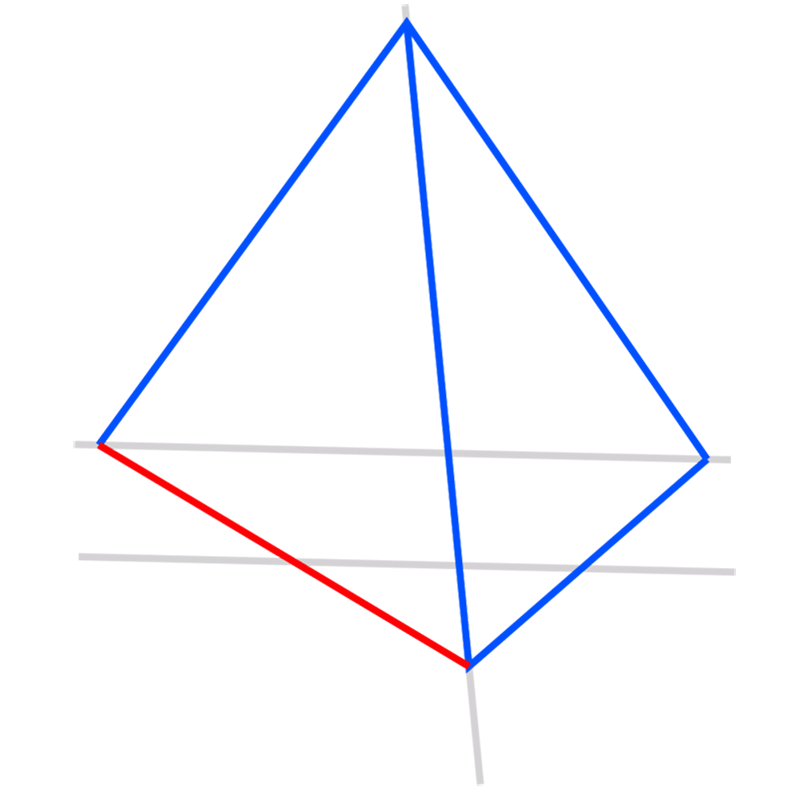 Learn easy to draw 3D Pyramid step 04