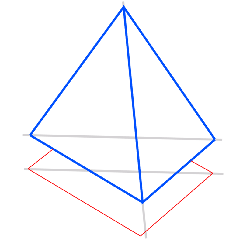 Learn easy to draw 3D Pyramid step 05