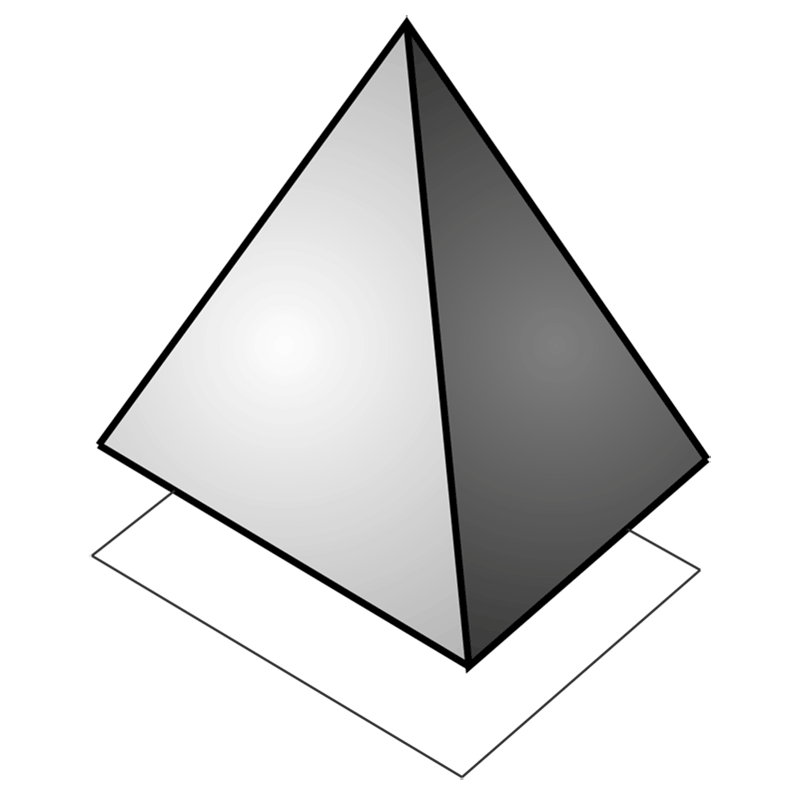Learn easy to draw 3D Pyramid step 07