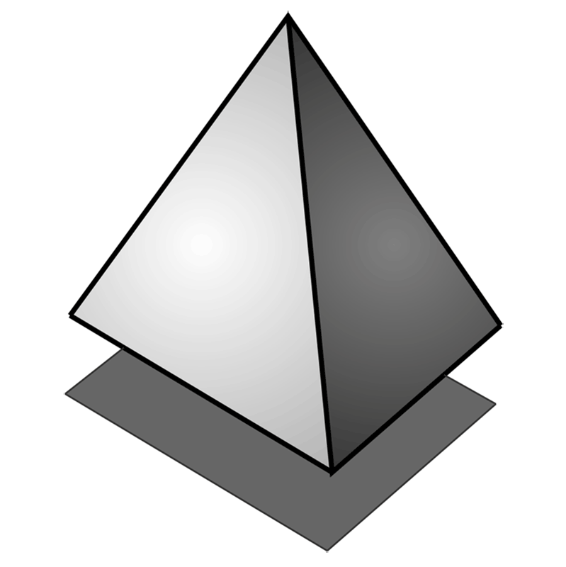 Learn easy to draw 3D Pyramid step 08