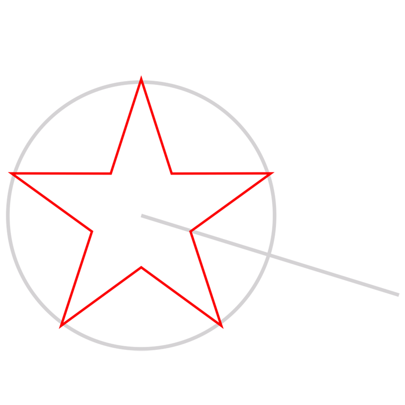 Learn easy to draw 3D Star Shape step 02