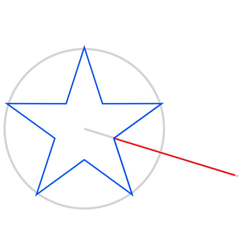 Learn easy to draw 3D Star Shape step 03