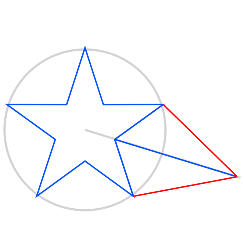 Learn easy to draw 3D Star Shape step 04