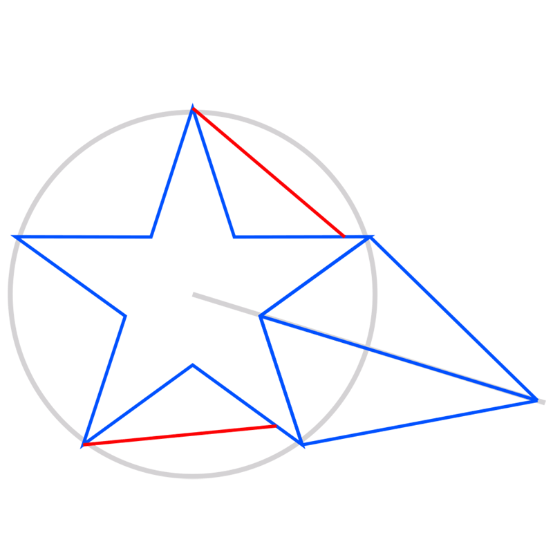 Learn easy to draw 3D Star Shape step 05