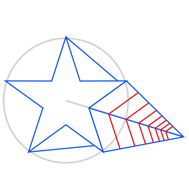 Learn easy to draw 3D Star Shape step 06