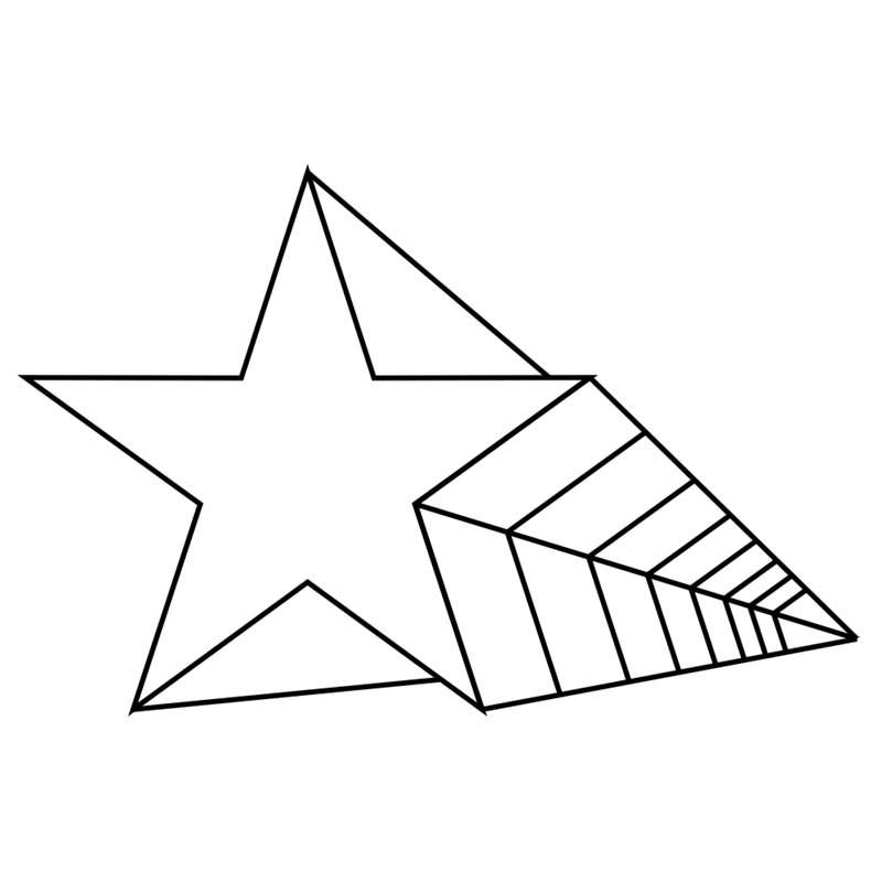 Learn easy to draw 3D Star Shape step 07