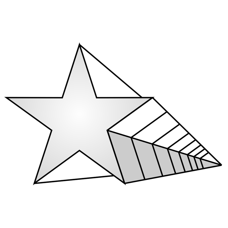 Learn easy to draw 3D Star Shape step 08