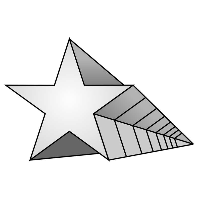 Learn easy to draw 3D Star Shape step 09