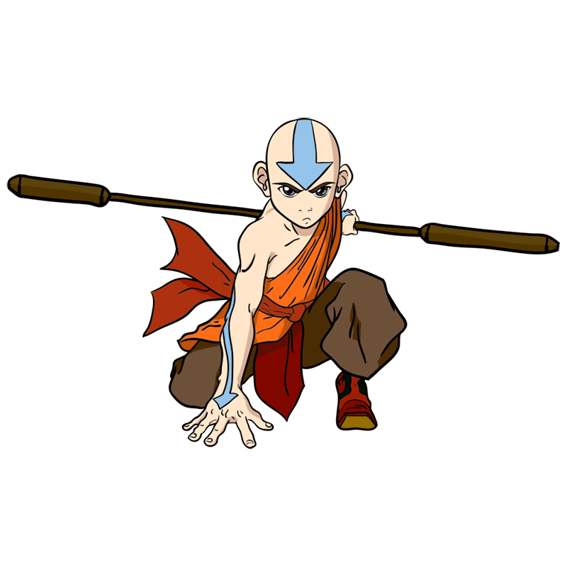 Learn easy to draw Aang Avatar step 00