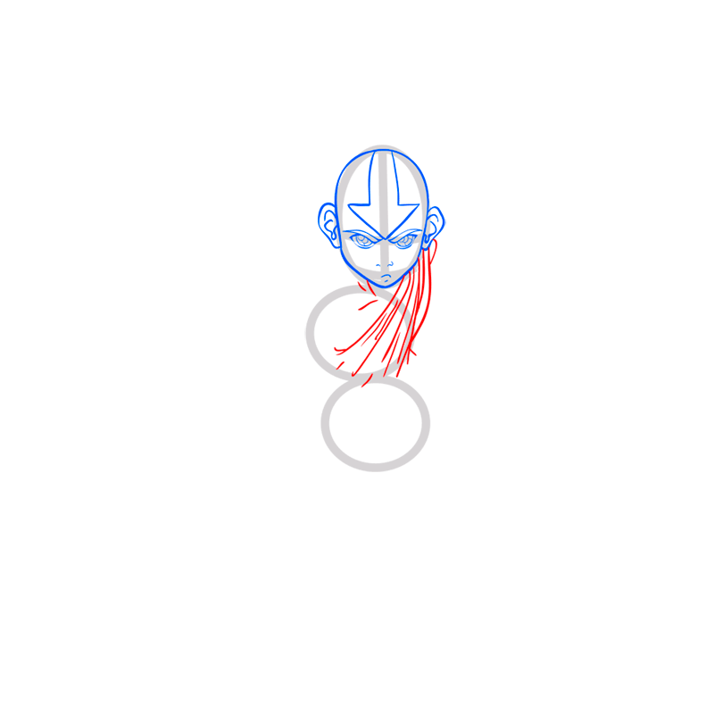 Learn easy to draw Aang Avatar step 05