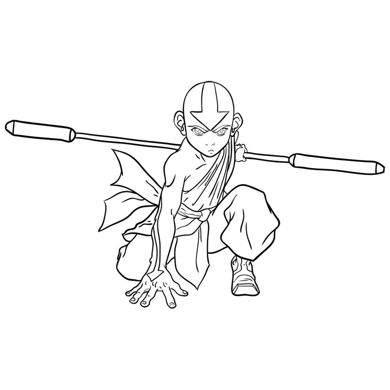 Learn easy to draw Aang Avatar step 11