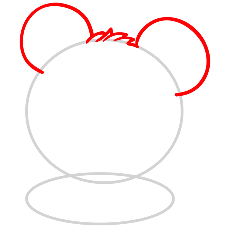 Learn easy to draw Adorable Hamster step 02