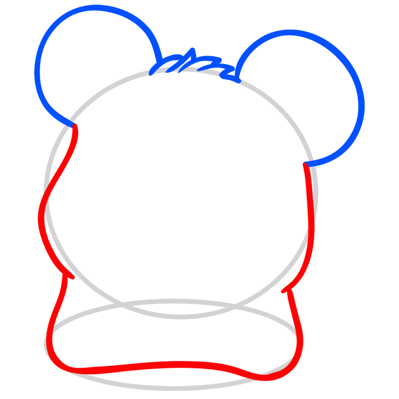 Learn easy to draw Adorable Hamster step 03