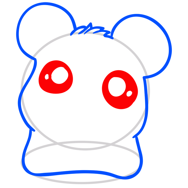 Learn easy to draw Adorable Hamster step 04