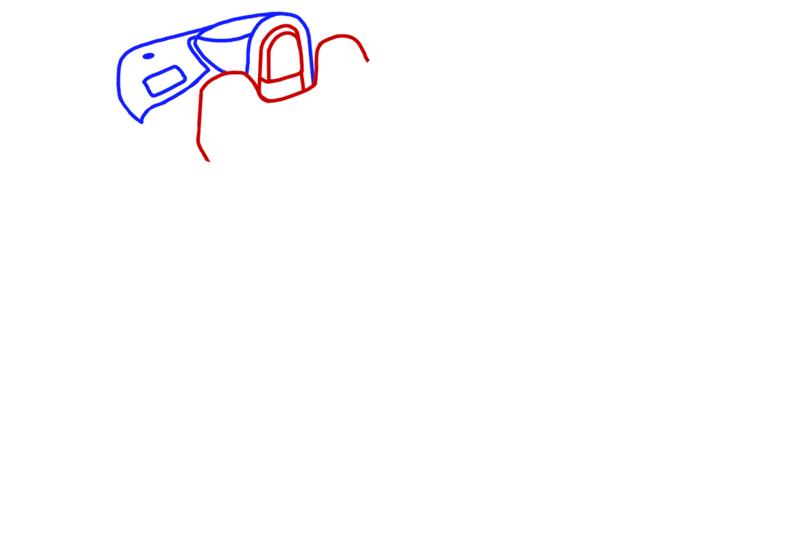 Learn easy to draw Ariel Atom 500 step 03