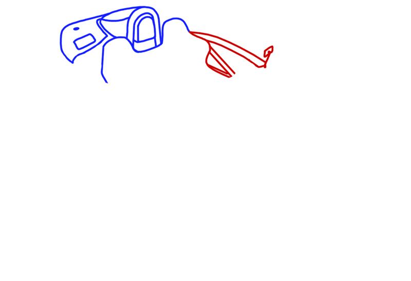 Learn easy to draw Ariel Atom 500 step 04