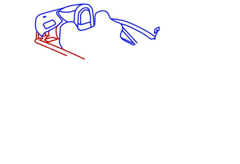 Learn easy to draw Ariel Atom 500 step 05
