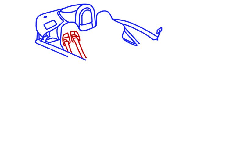 Learn easy to draw Ariel Atom 500 step 06