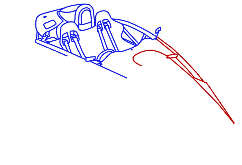 Learn easy to draw Ariel Atom 500 step 09