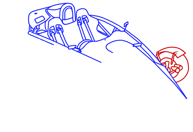 Learn easy to draw Ariel Atom 500 step 10