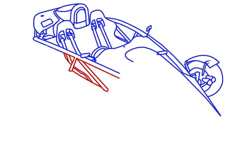 Learn easy to draw Ariel Atom 500 step 11