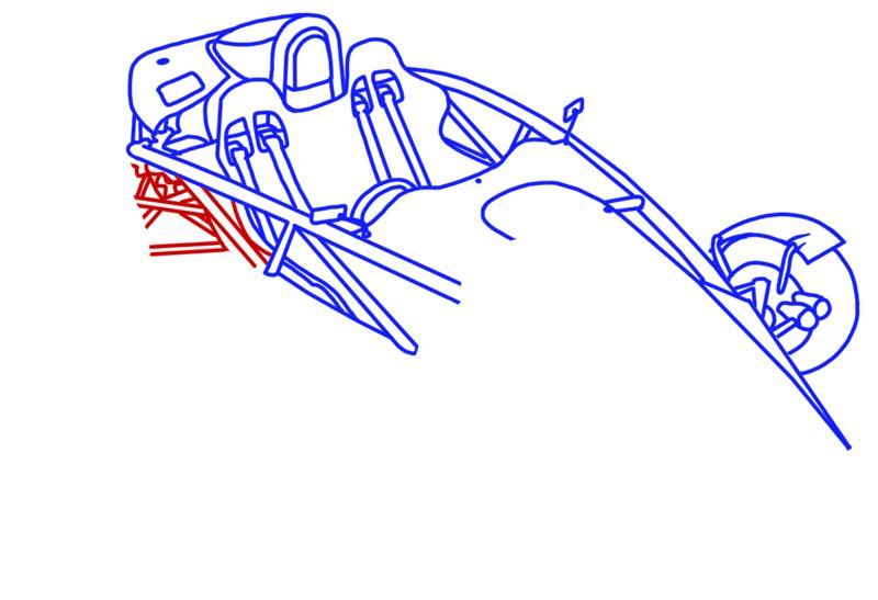 Learn easy to draw Ariel Atom 500 step 12