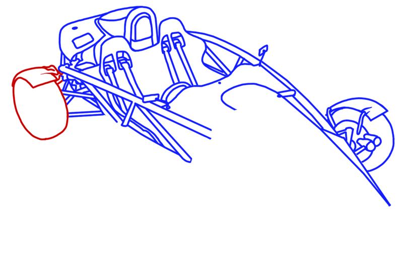 Learn easy to draw Ariel Atom 500 step 13