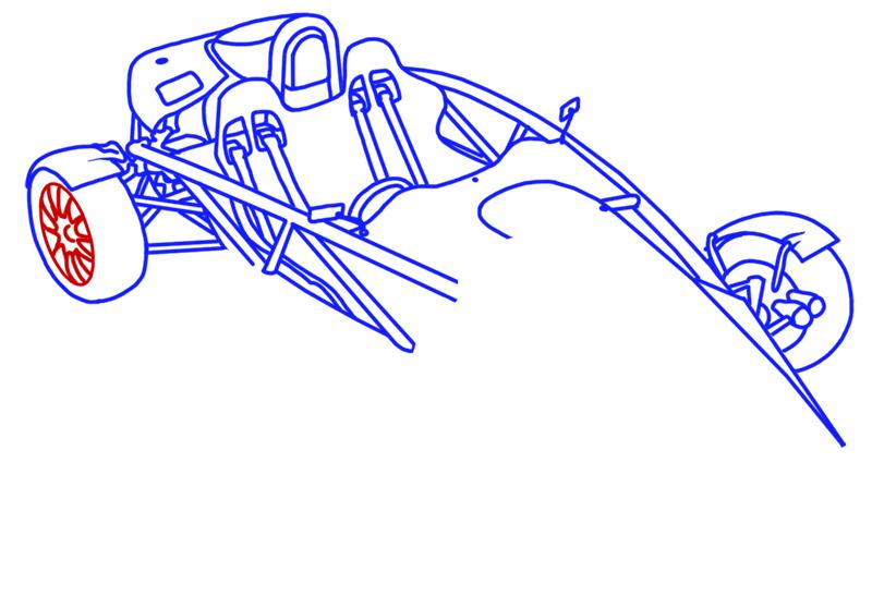 Learn easy to draw Ariel Atom 500 step 14