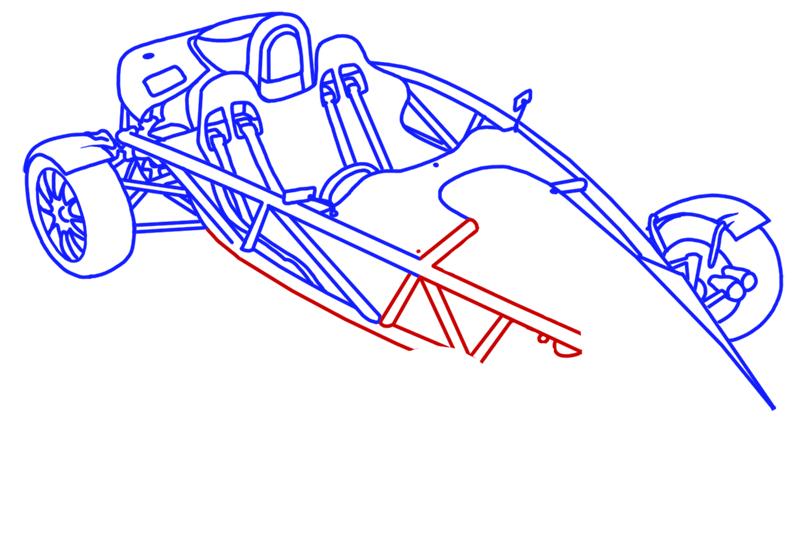 Learn easy to draw Ariel Atom 500 step 15