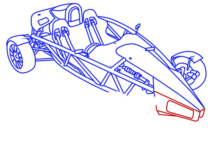 Learn easy to draw Ariel Atom 500 step 17