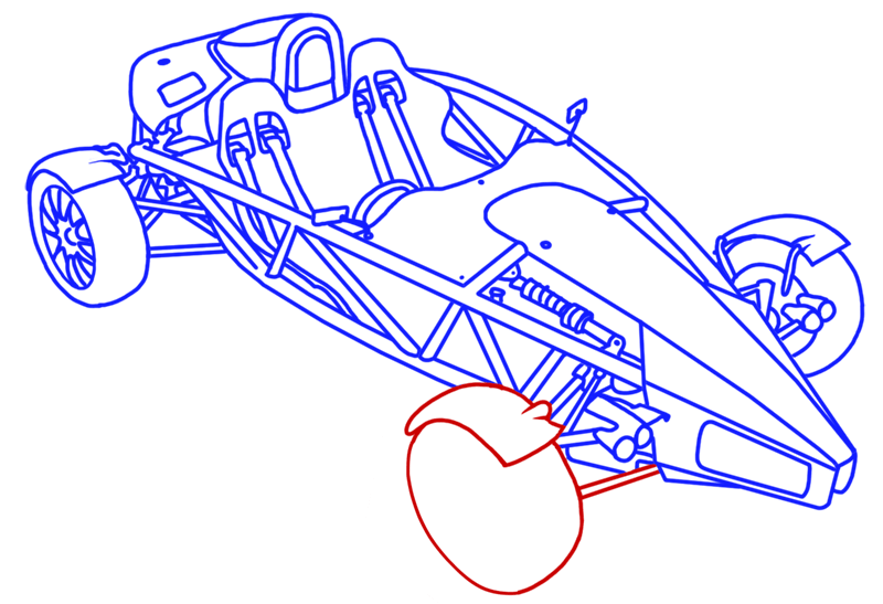 Learn easy to draw Ariel Atom 500 step 19