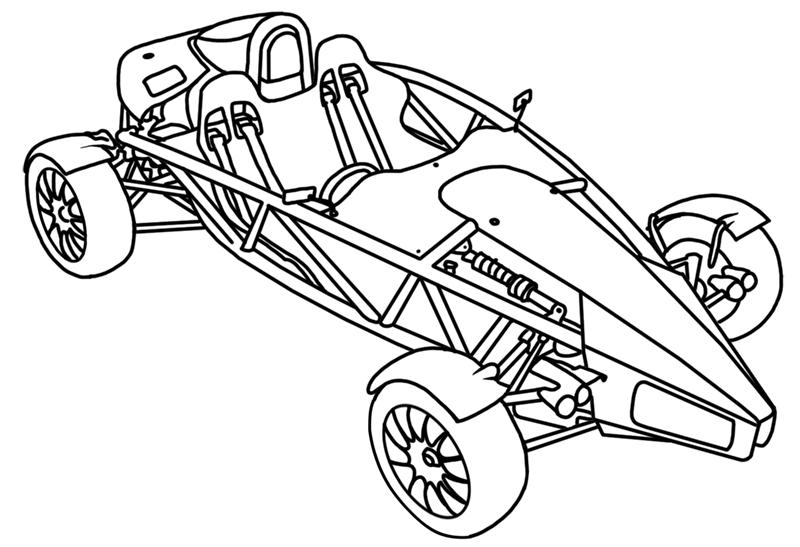 Learn easy to draw Ariel Atom 500 step 21
