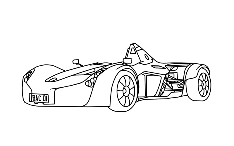 Learn easy to draw BAC Mono step 00