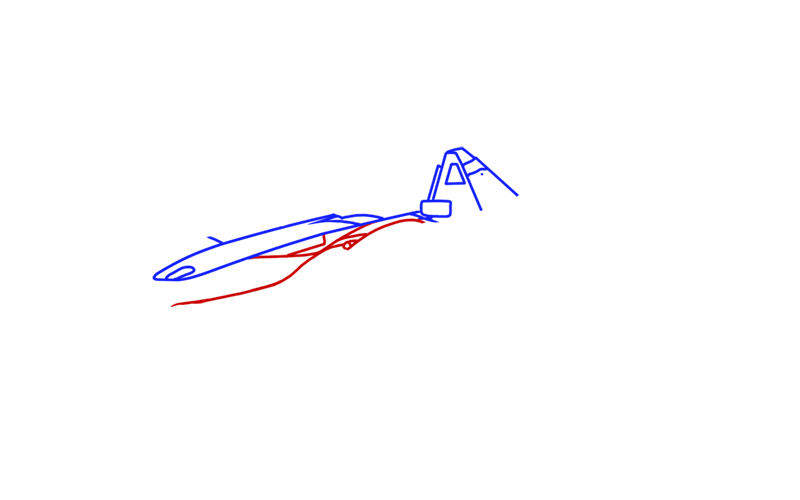 Learn easy to draw BAC Mono step 03