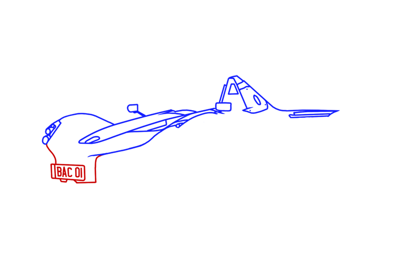 Learn easy to draw BAC Mono step 06