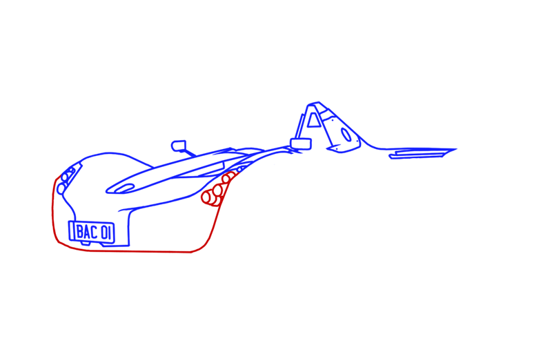 Learn easy to draw BAC Mono step 07