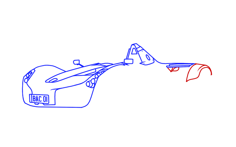 Learn easy to draw BAC Mono step 08