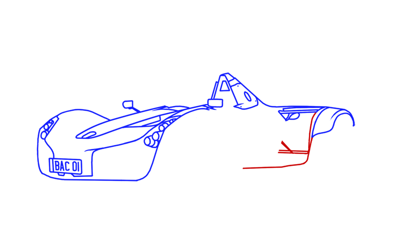 Learn easy to draw BAC Mono step 09