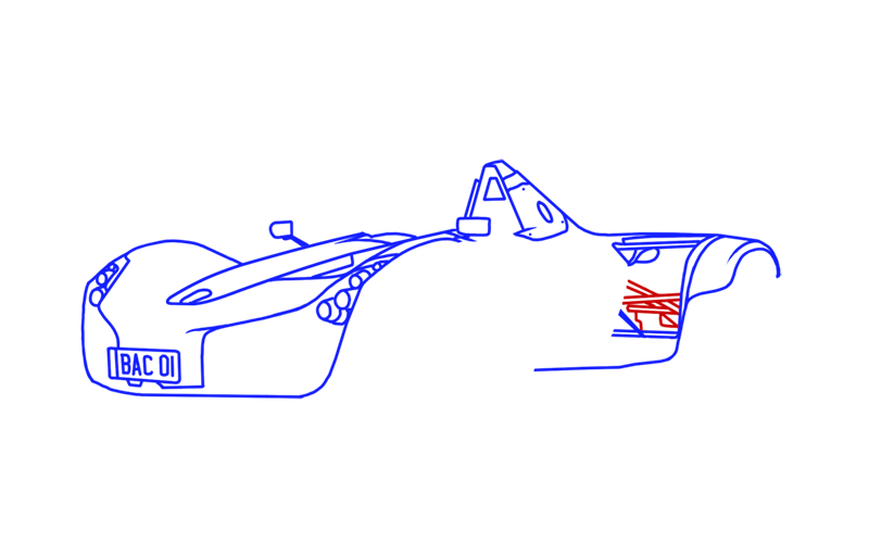 Learn easy to draw BAC Mono step 10
