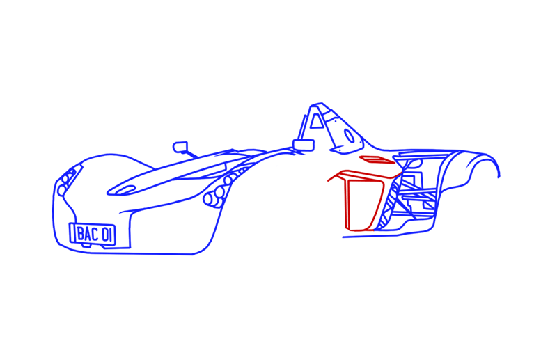 Learn easy to draw BAC Mono step 12