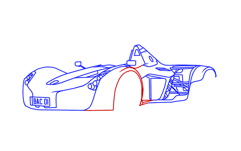 Learn easy to draw BAC Mono step 13