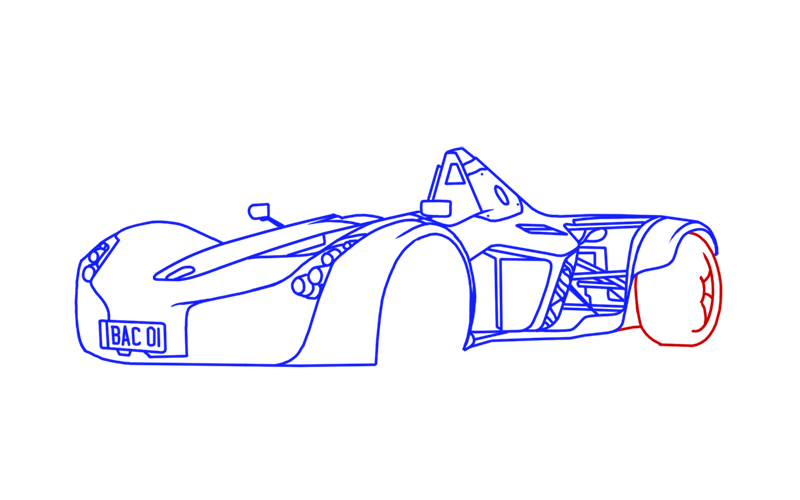 Learn easy to draw BAC Mono step 14