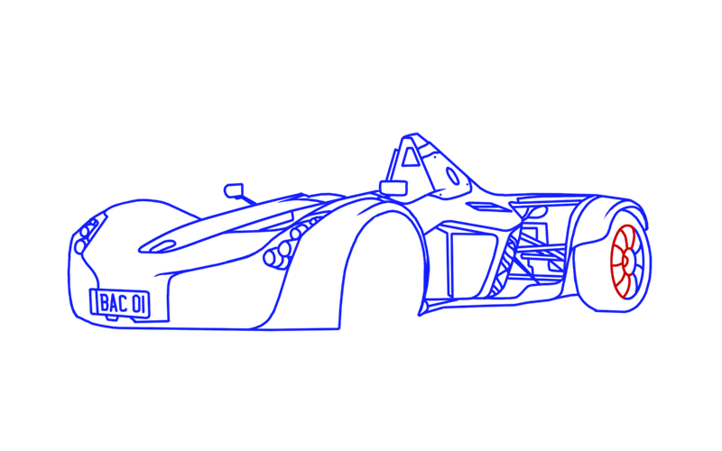 Learn easy to draw BAC Mono step 15