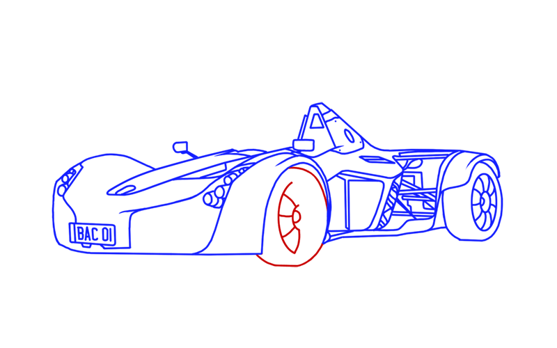 Learn easy to draw BAC Mono step 16