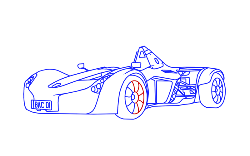 Learn easy to draw BAC Mono step 17